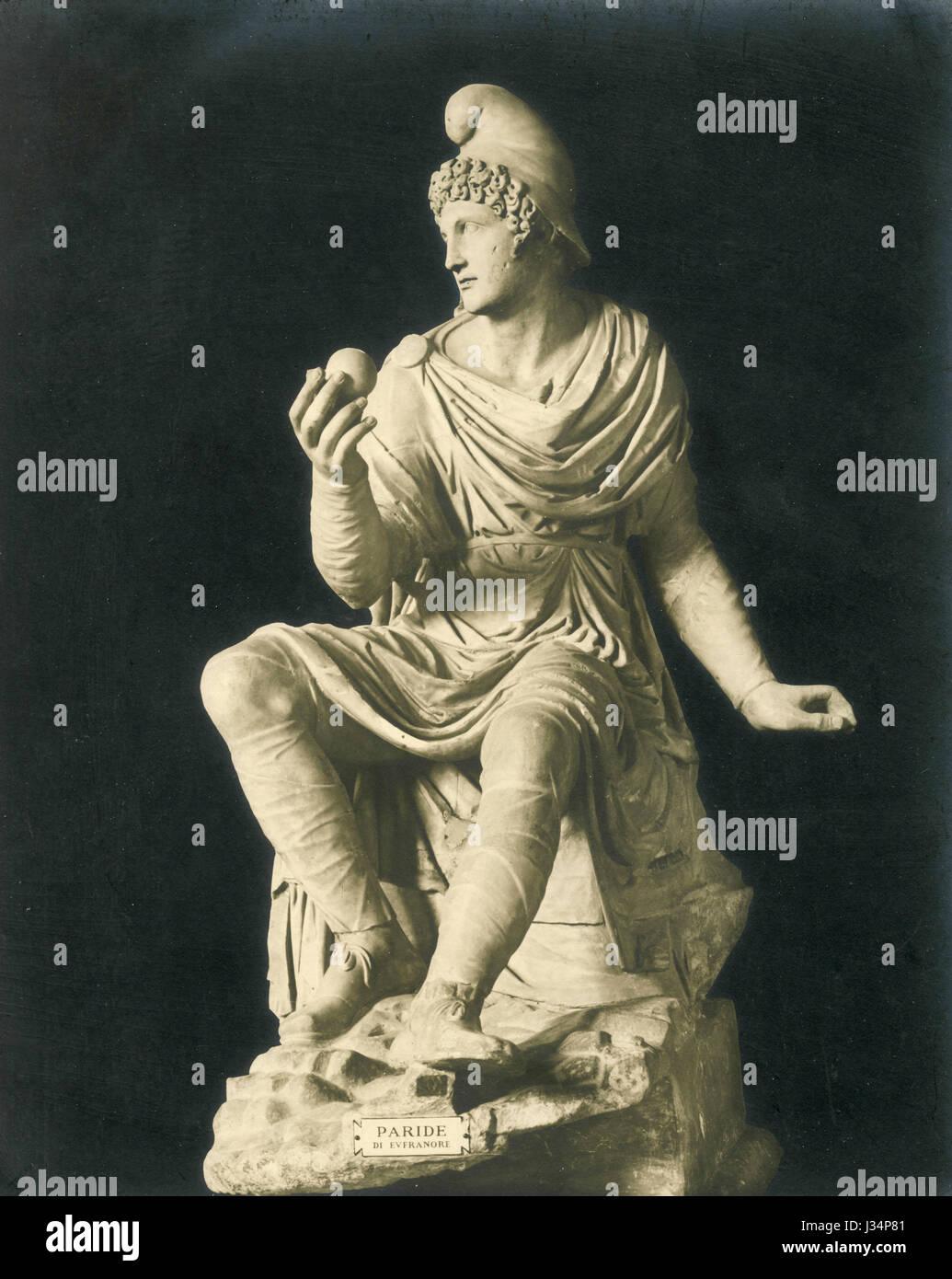 Euphranor, Statue of Paris, ca. 4th BC, Vatican Museum, Italy - Stock Image