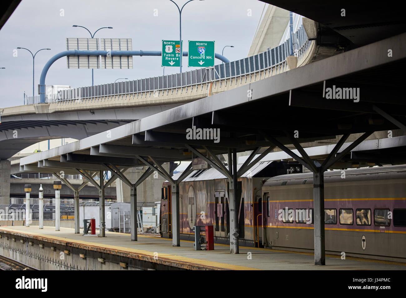 Boston North Station major transportation hub Massachusetts, United States, USA, - Stock Image