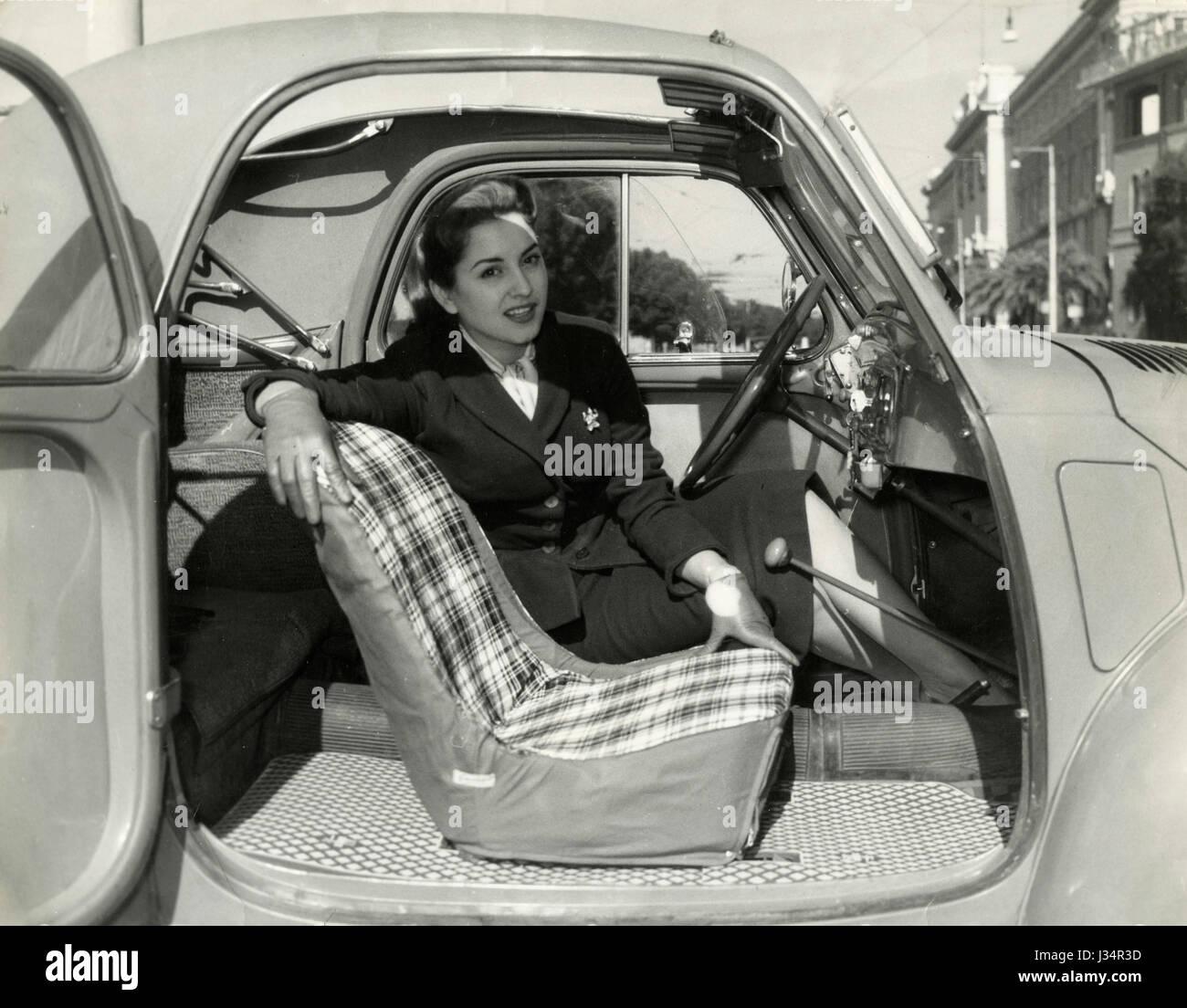 Car Stock Photos: 1950s Woman Car Stock Photos & 1950s Woman Car Stock