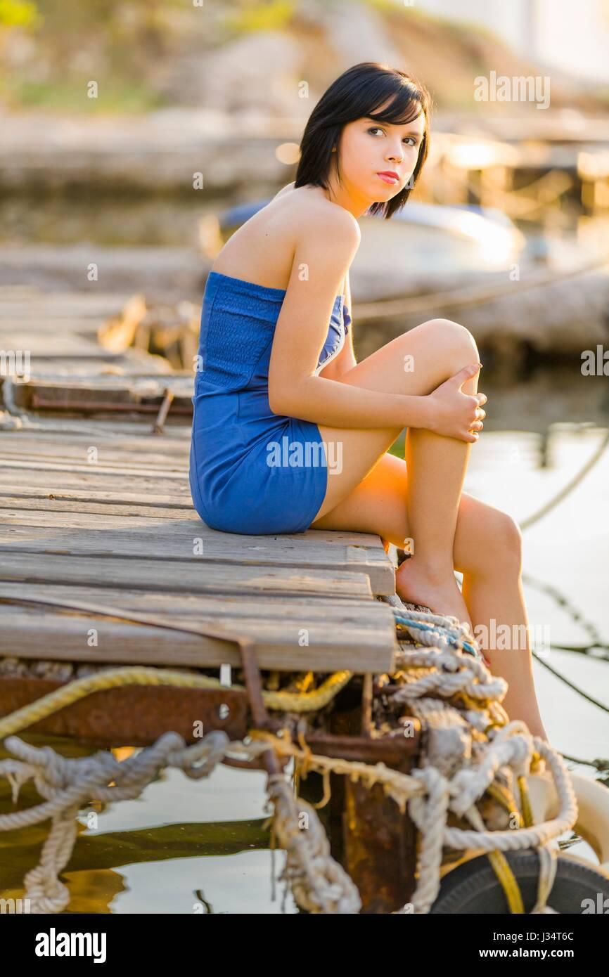 Young Beautiful Girl In Mini Skirt Stock Photos Amp Young