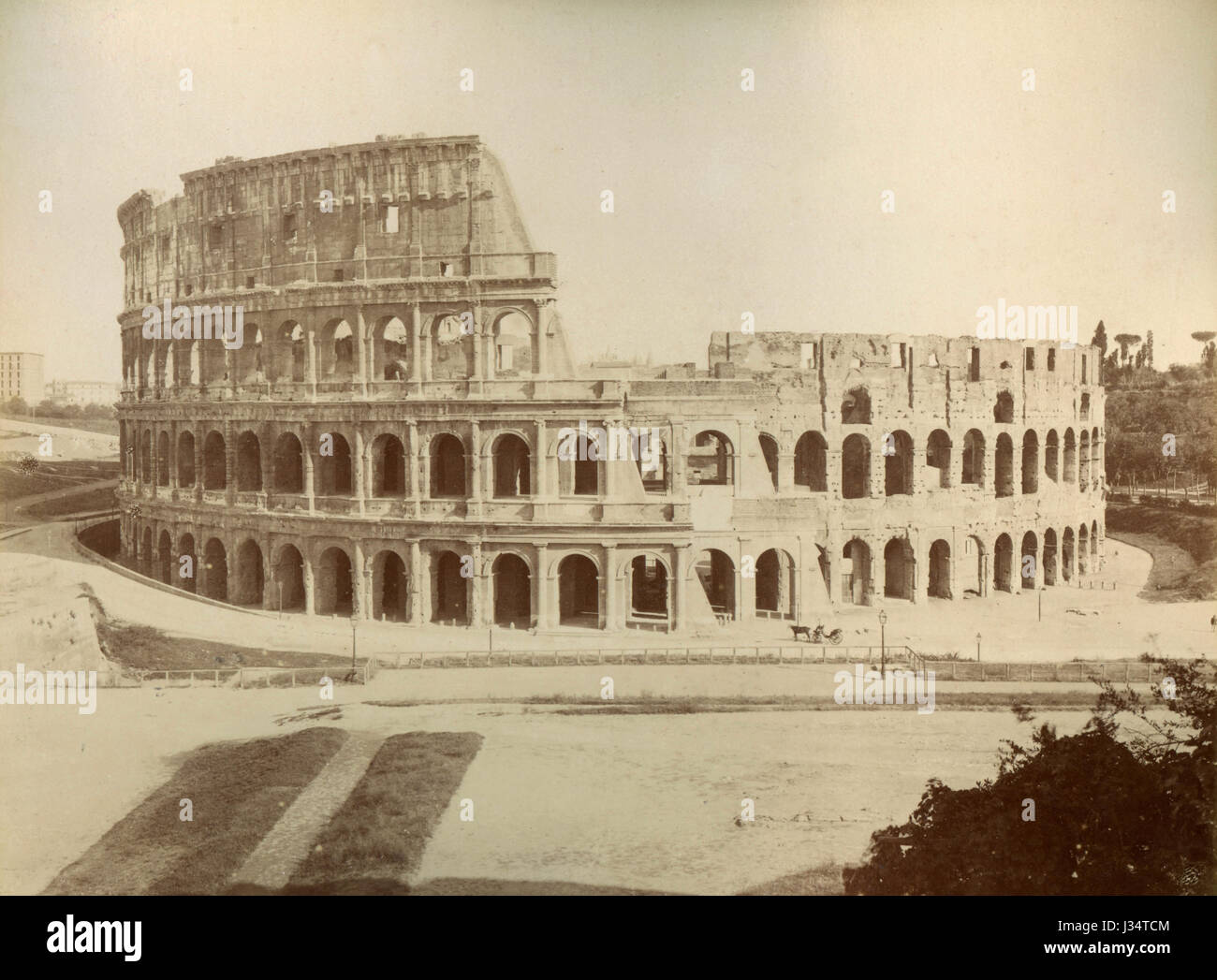 Flavian Amphitheater, aka Colosseum, Rome, Italy - Stock Image