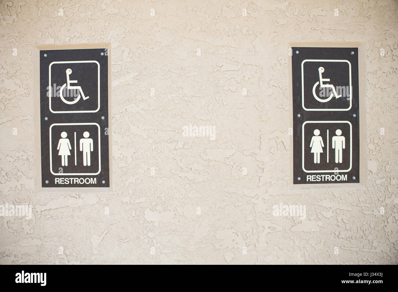 Bathroom Bill Stock Photos Images Alamy Wiring Shaver Socket In Unisex Public Exterior Sign Image