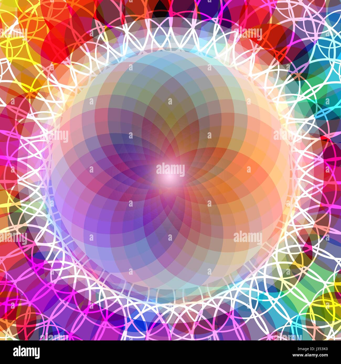 Abstract colorful pattern of emotional balance - Stock Image