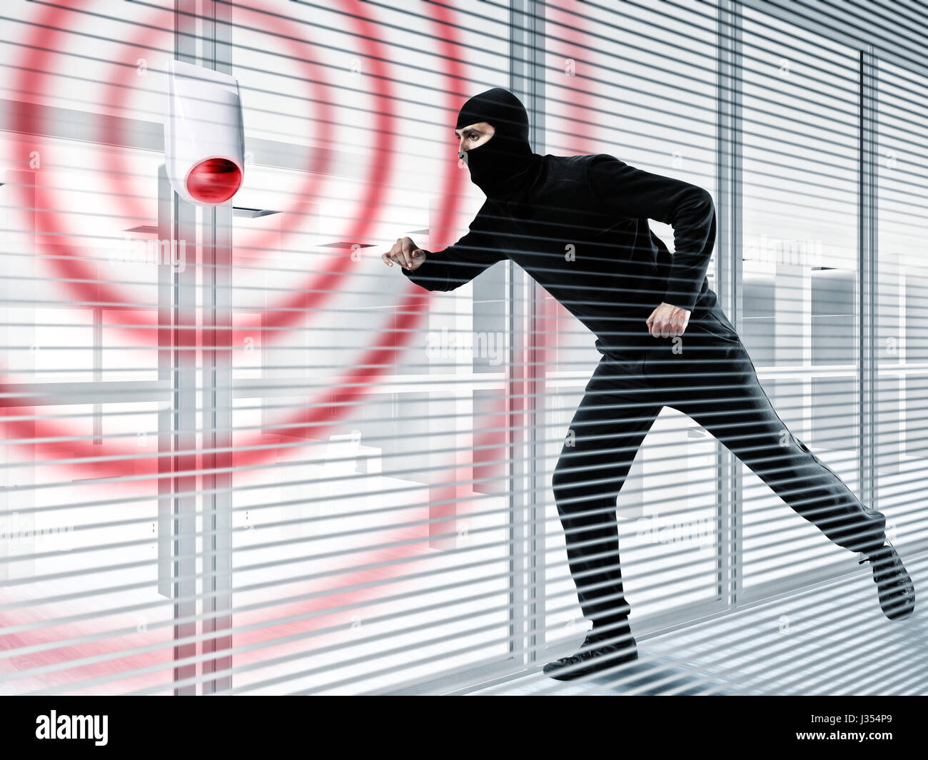 Alarm for stealing a thief - Stock Image