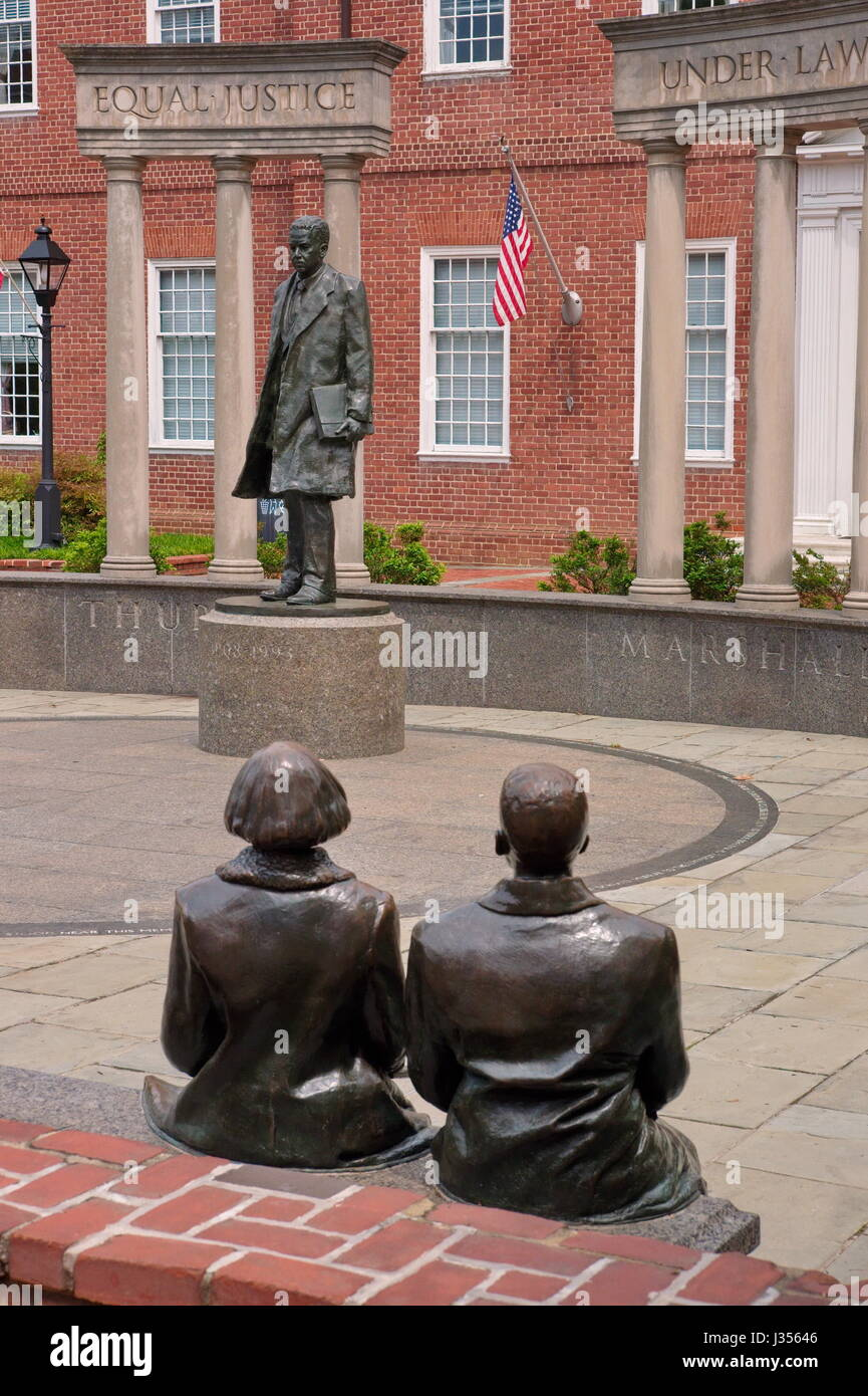 Monument of U.S. Supreme Court Justice Thurgood Marshall - Stock Image