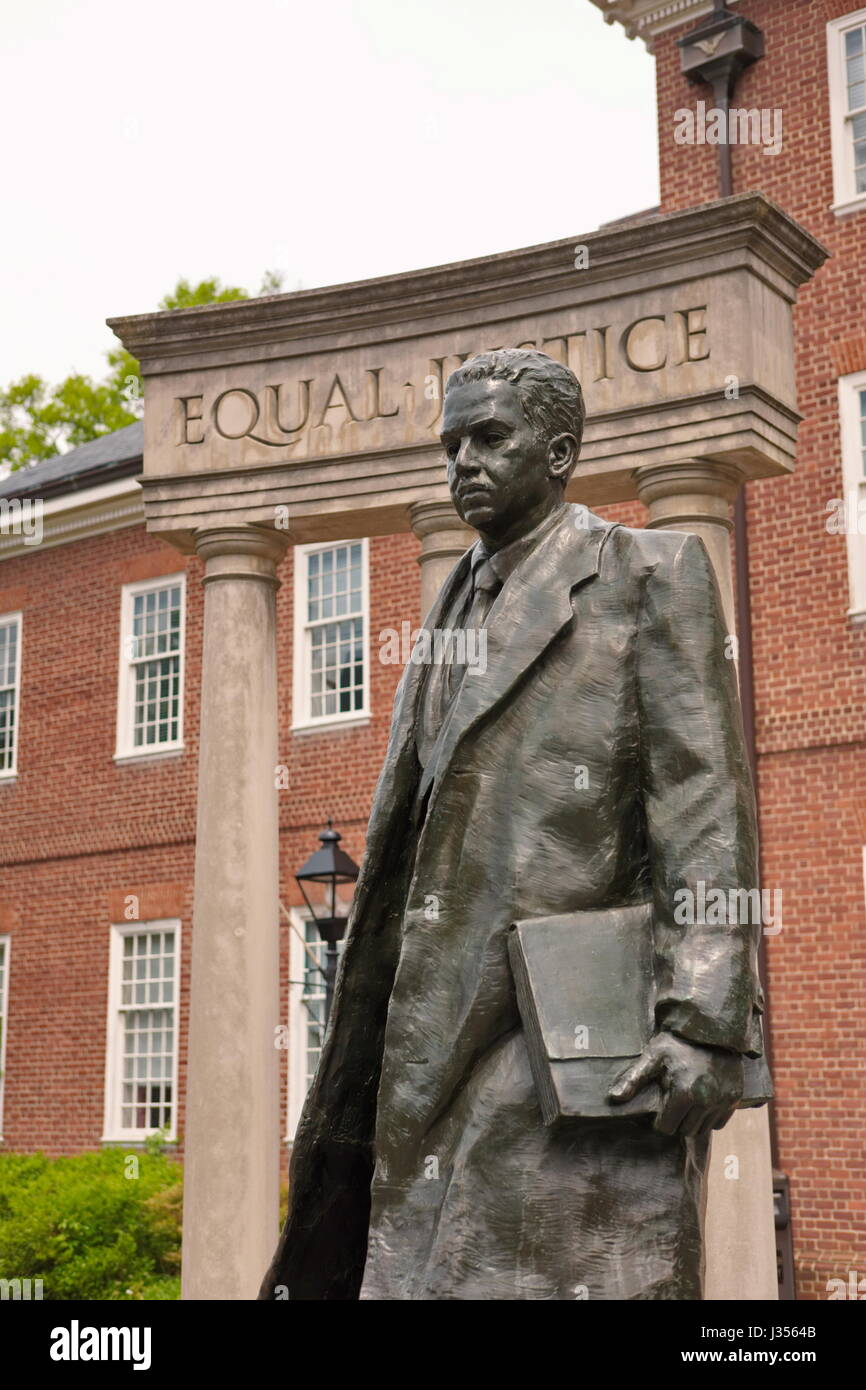 Monument of Supreme Court Justice Thurgood Marshall - Stock Image