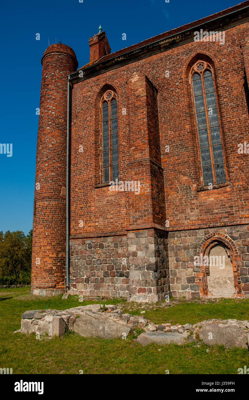 Chwarszczany - Chapel of the Templars Order - Stock Image