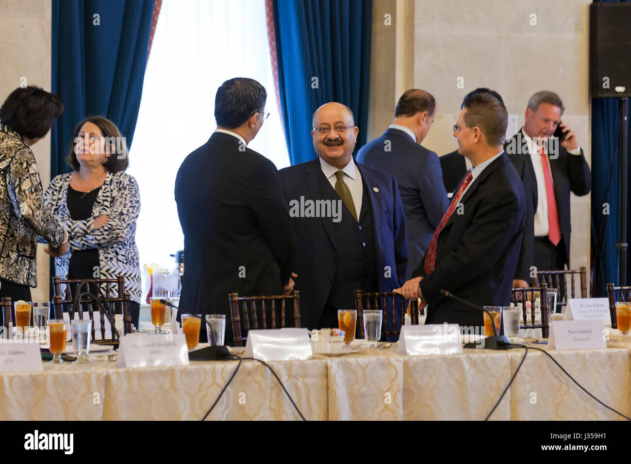 Prince Abdullah Faisal Turki Al-Saud, Ambassador of Saudi Arabia to the US, at US - Saudi CEO Summit  - US Chamber - Stock Image