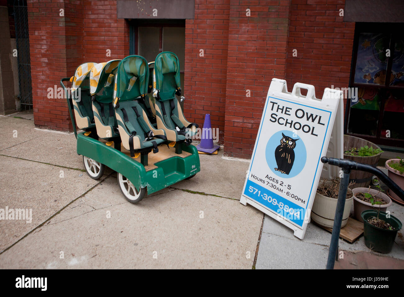 The Owl School, private preschool childcare - Washington, DC USA Stock Photo