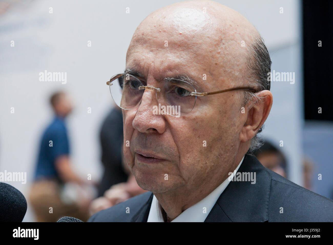 Henrique Meirelles, Minister of Finance of Brazil - Stock Image