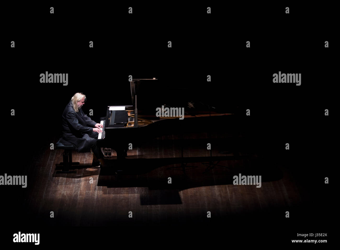 Turin, Italy. 02nd May, 2017. 02 May 2017 - Rick Wakeman in concert at theater 'Colosseo', Turin, with his - Stock Image