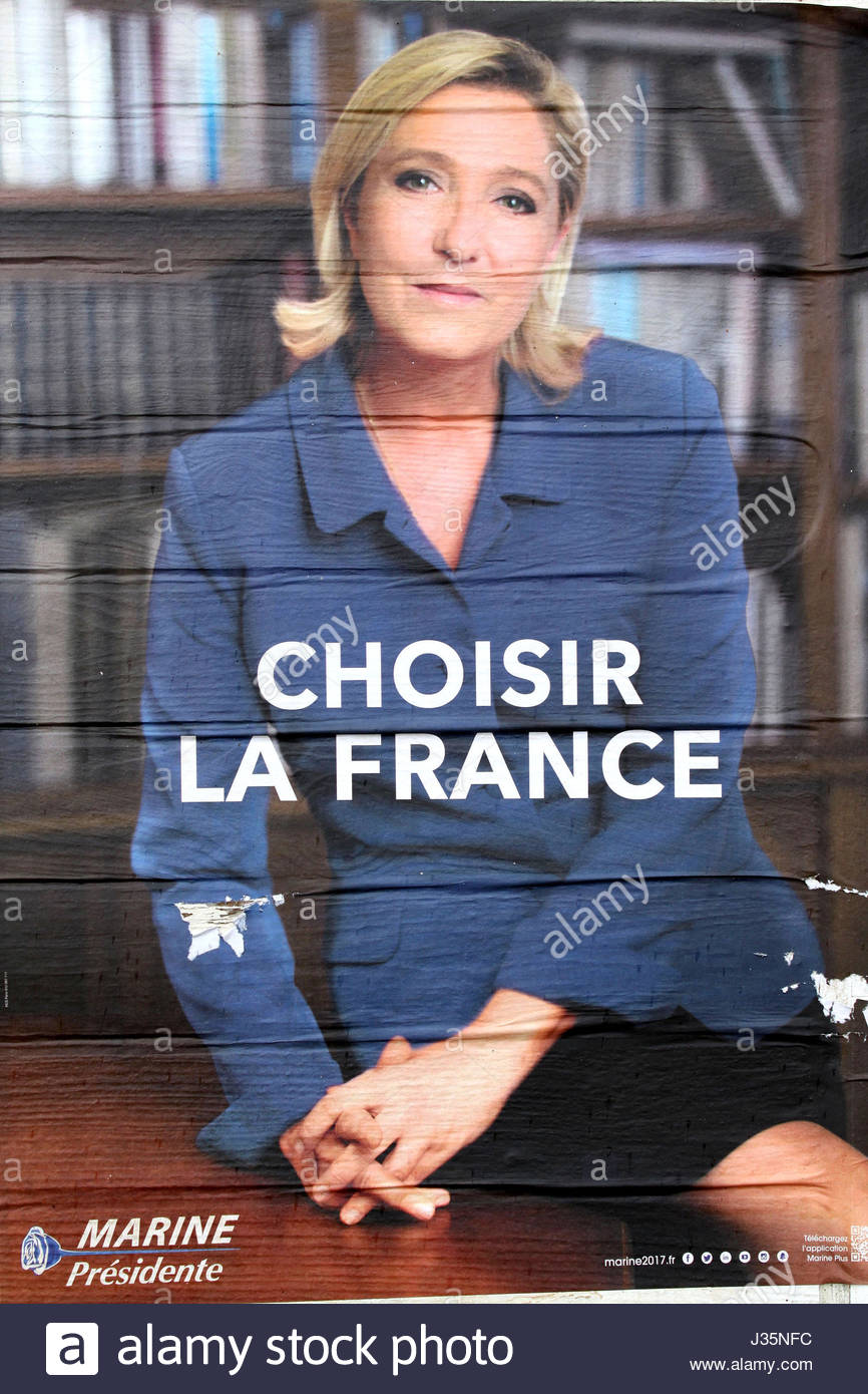 French Presidential Elections 2017 - Marine Le Pen, candidate for the French presidential election - Stock Image