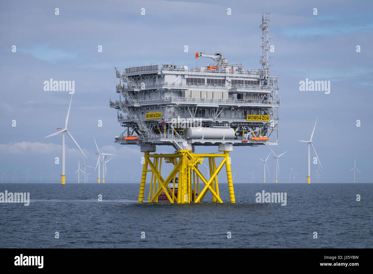 Walney Extension Offshore Wind Farm - Stock Image