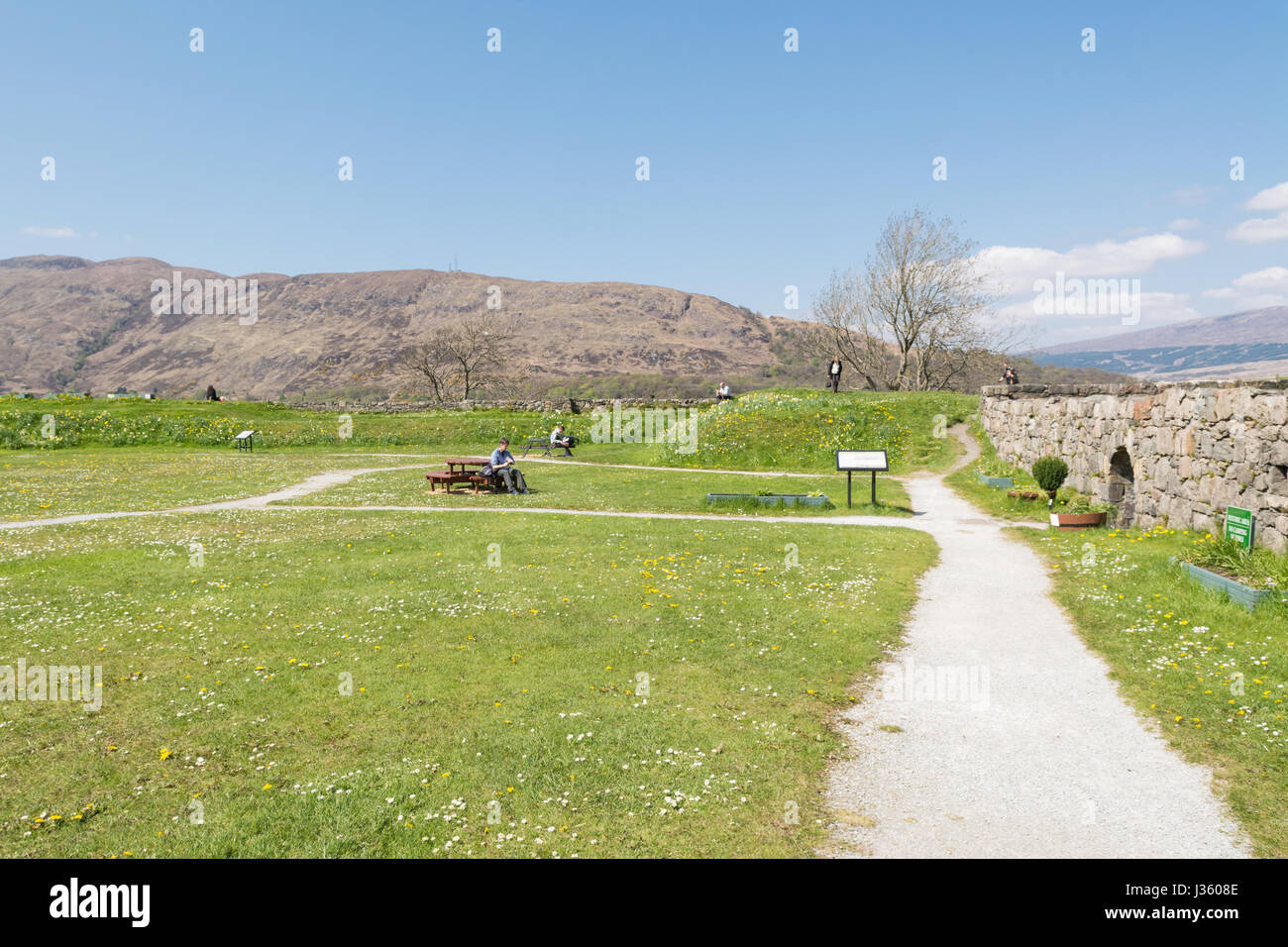 Fort William Cromwellian Barracks Old Fort remains, Scotland, UK Stock Photo