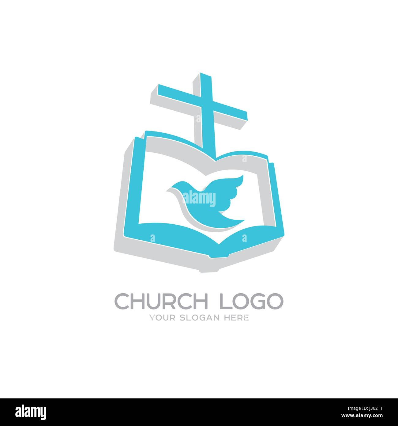 Church logo christian symbols the gospel the cross of jesus church logo christian symbols the gospel the cross of jesus christ and the dove the holy spirit altavistaventures Choice Image