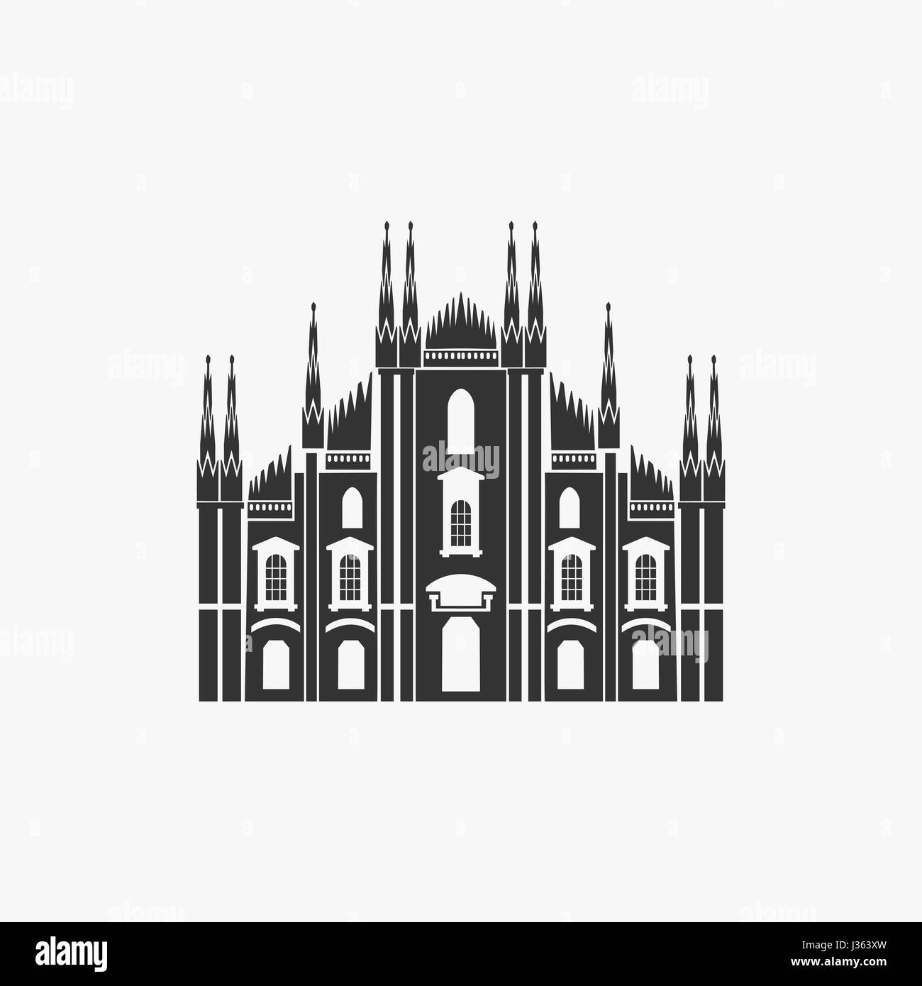 Milan Cathedral Vector Illustration - Stock Vector