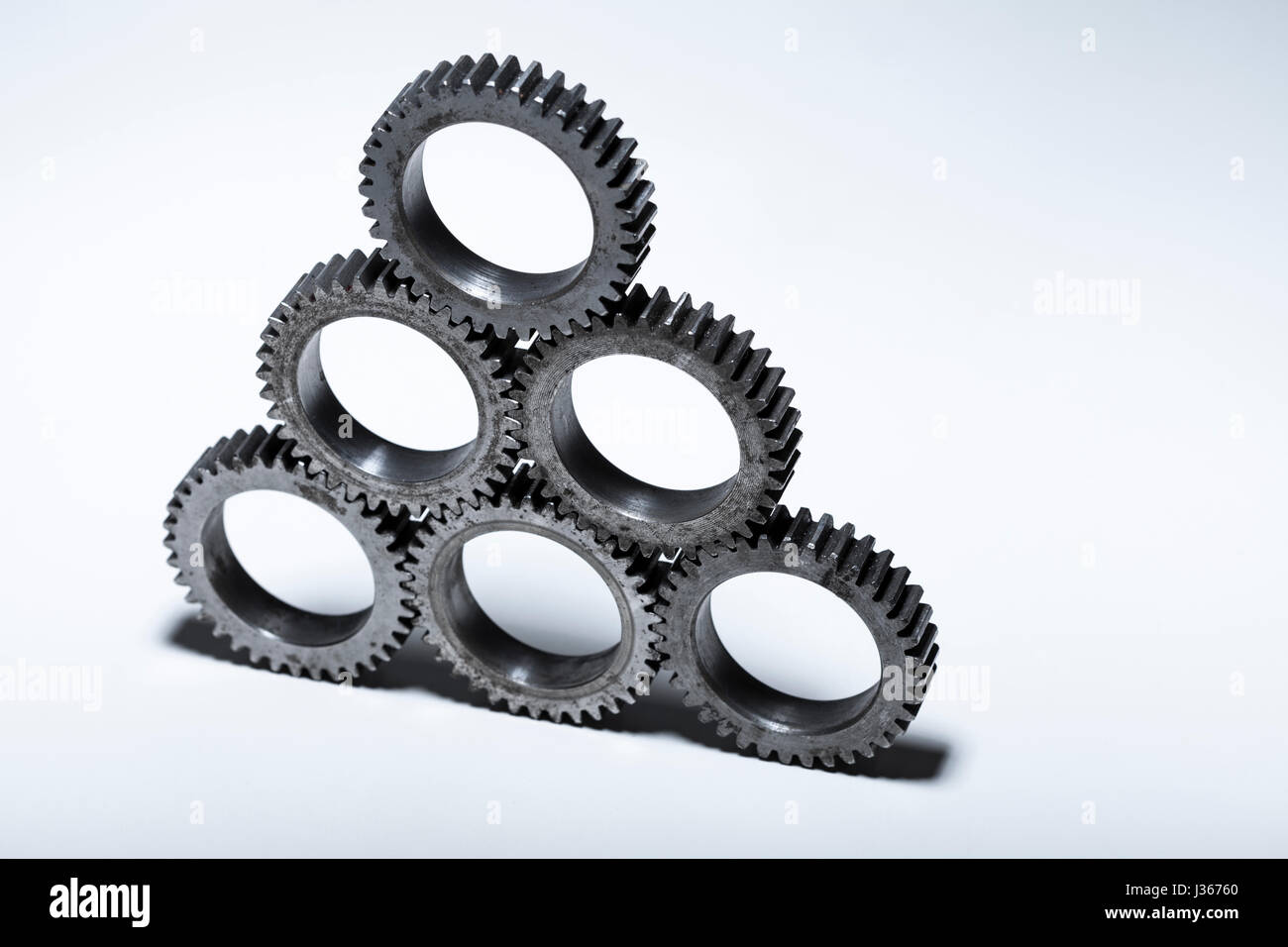 Stacked Machine Gears Stock Photo