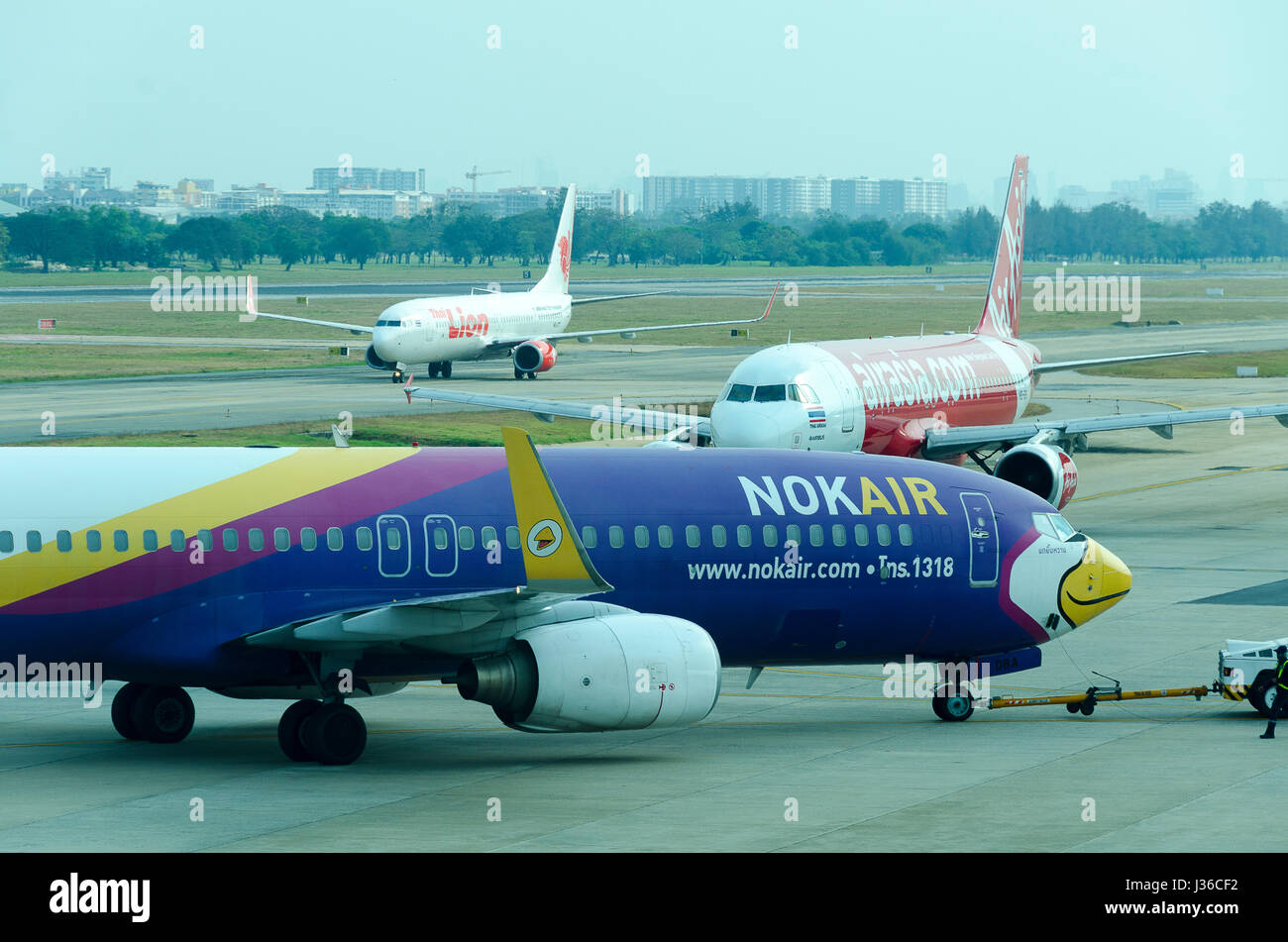 Nok Air Boeing 737, Air Asia Airbus A320 and Thai Lion