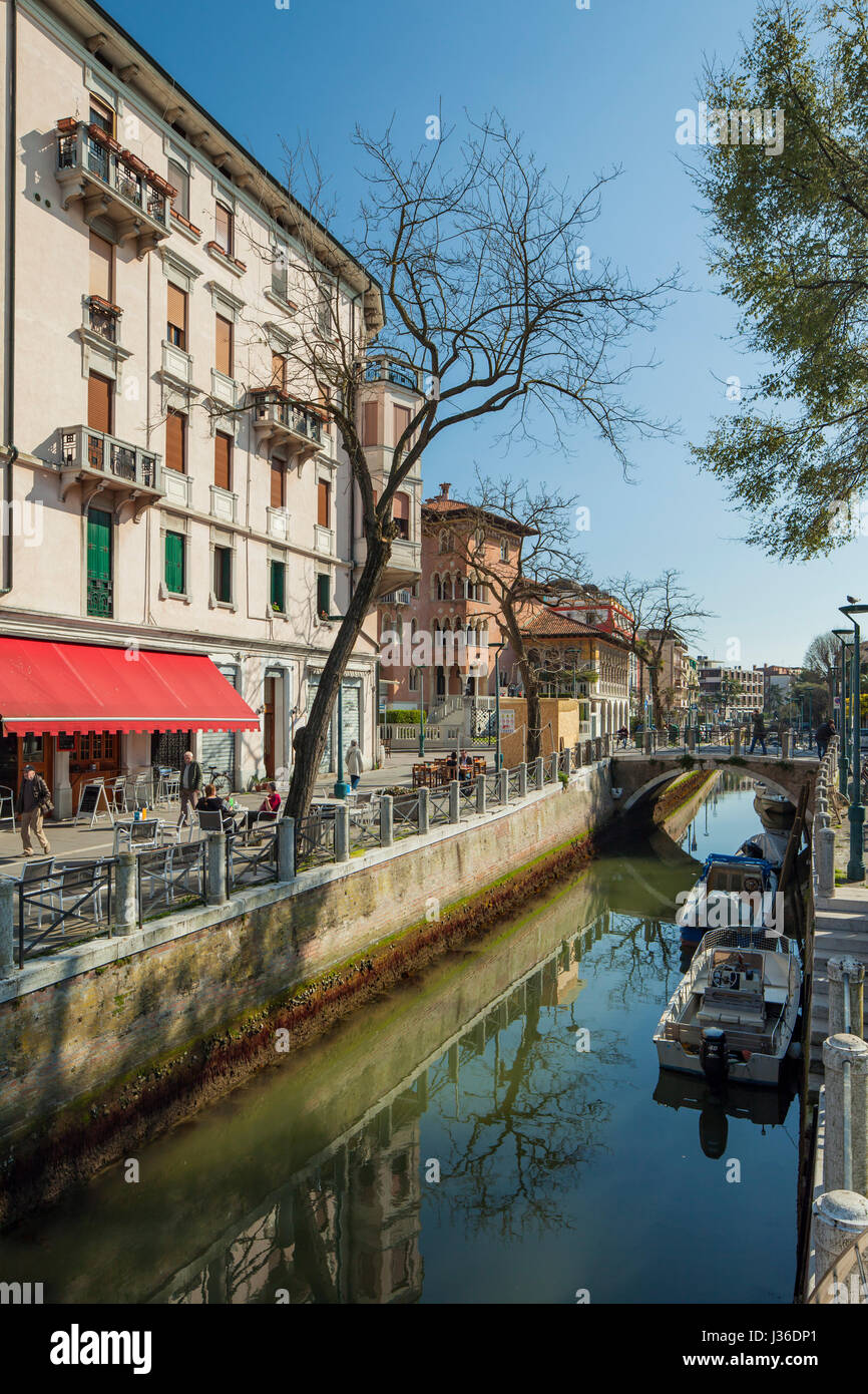 Spring afternoon on Lido island in Venice. - Stock Image