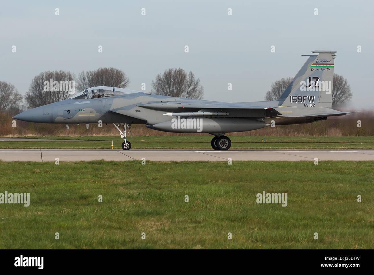 USAF F-15 Eagle during the Frisian Flag exercise - Stock Image