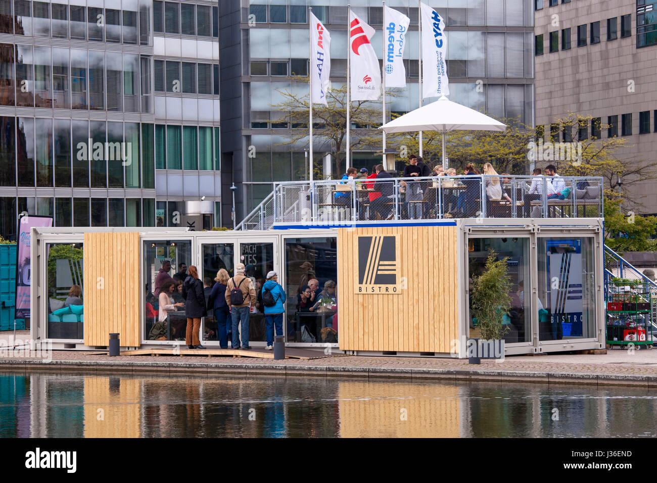 Germany Cologne Aldi Bistro In The Mediapark In Two Ship Stock Photo Alamy