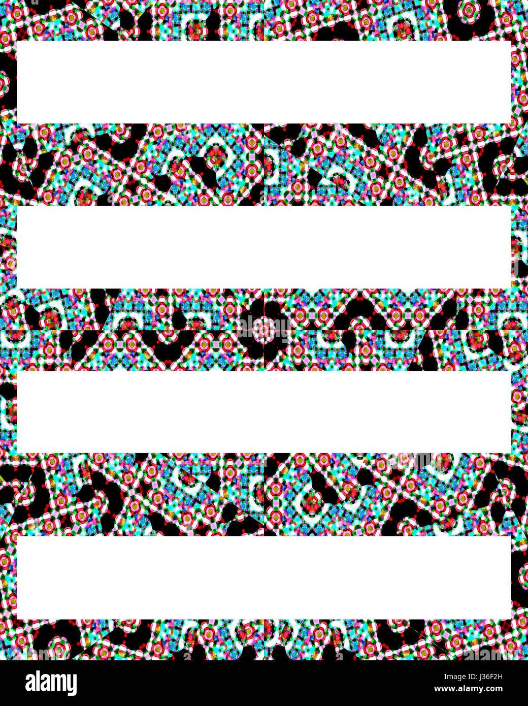Digital technique abstract geometric stripes pattern background design in mixed colors Stock Photo