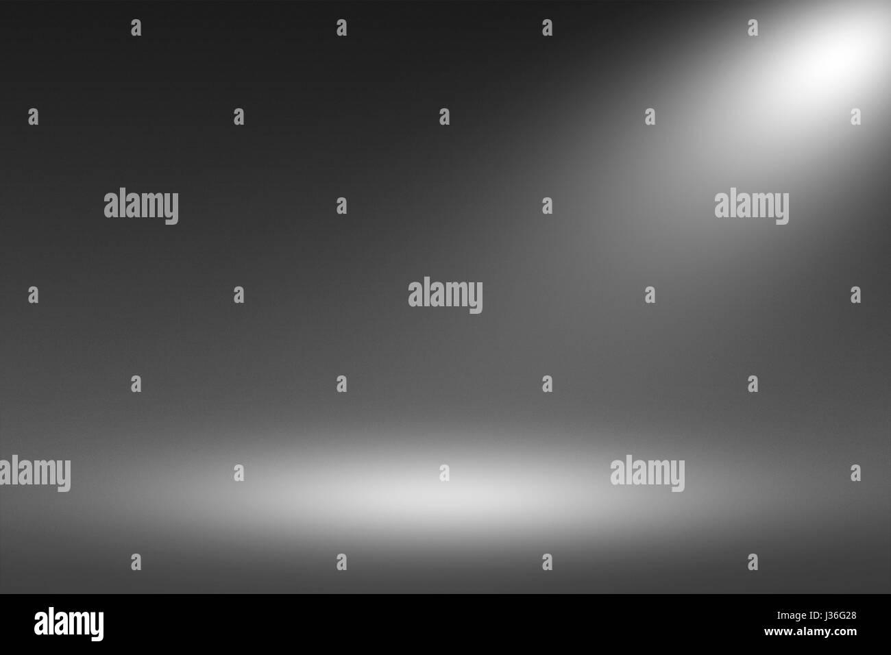 Product Showscase Spotlight on Black Background - Fuzzy Infinite Dark Floor - Stock Image
