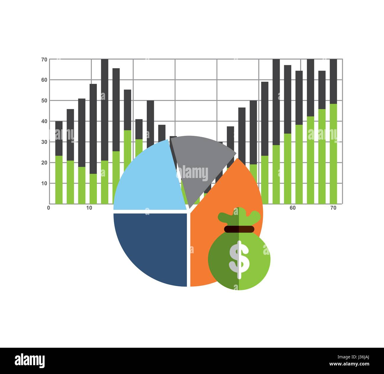 investment infographic elements icon - Stock Image