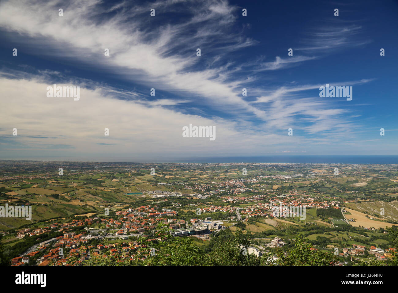 A landscape from San Marino hills Stock Photo