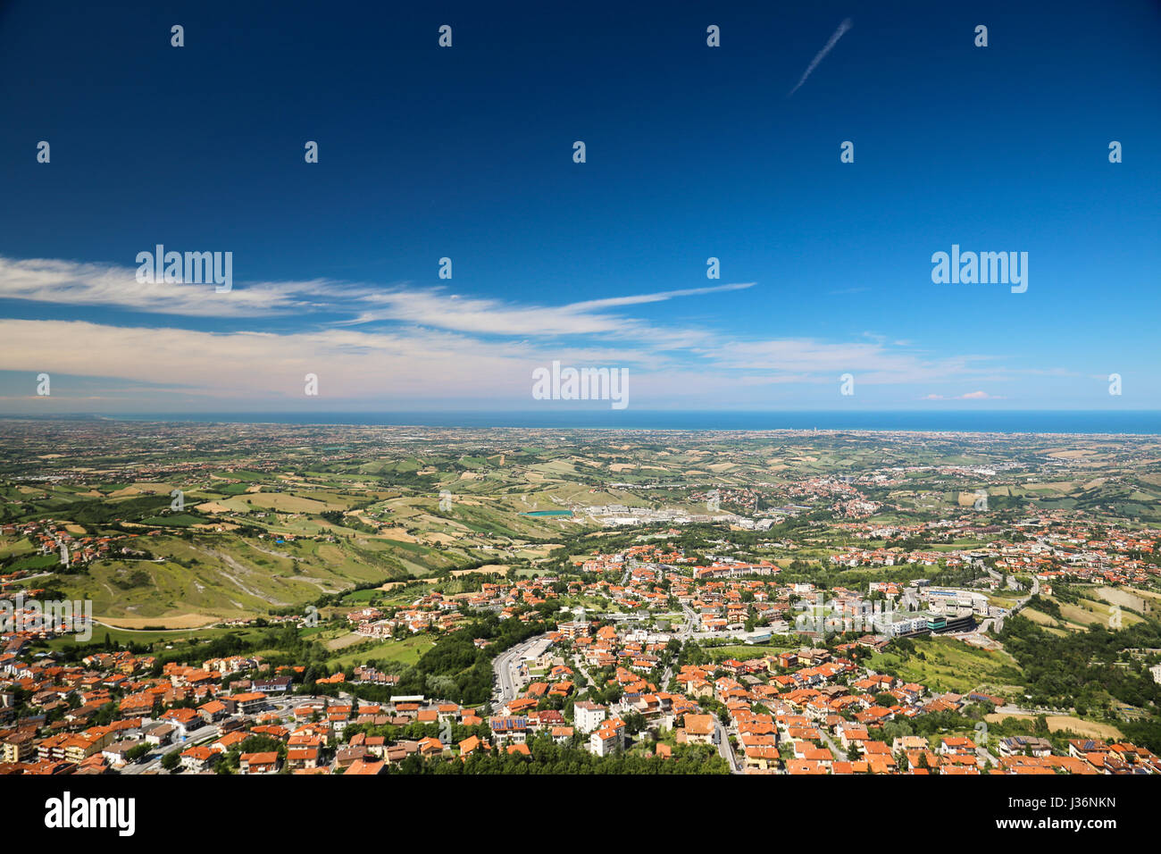 A landscape from San Marino hills - Stock Image