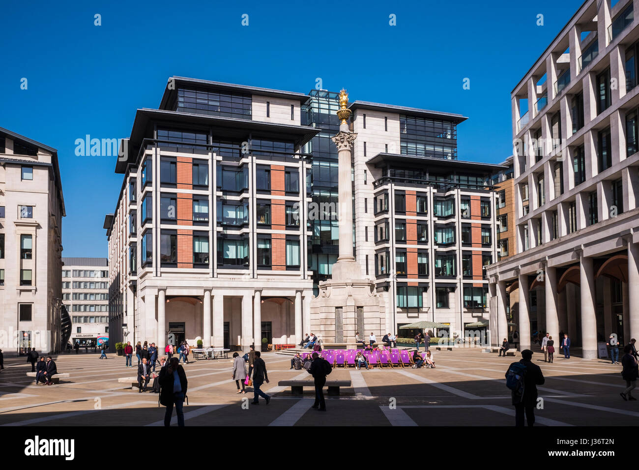 Paternoster Square is an urban development, next to St Paul's Cathedral in the City of London, England, U.K. - Stock Image
