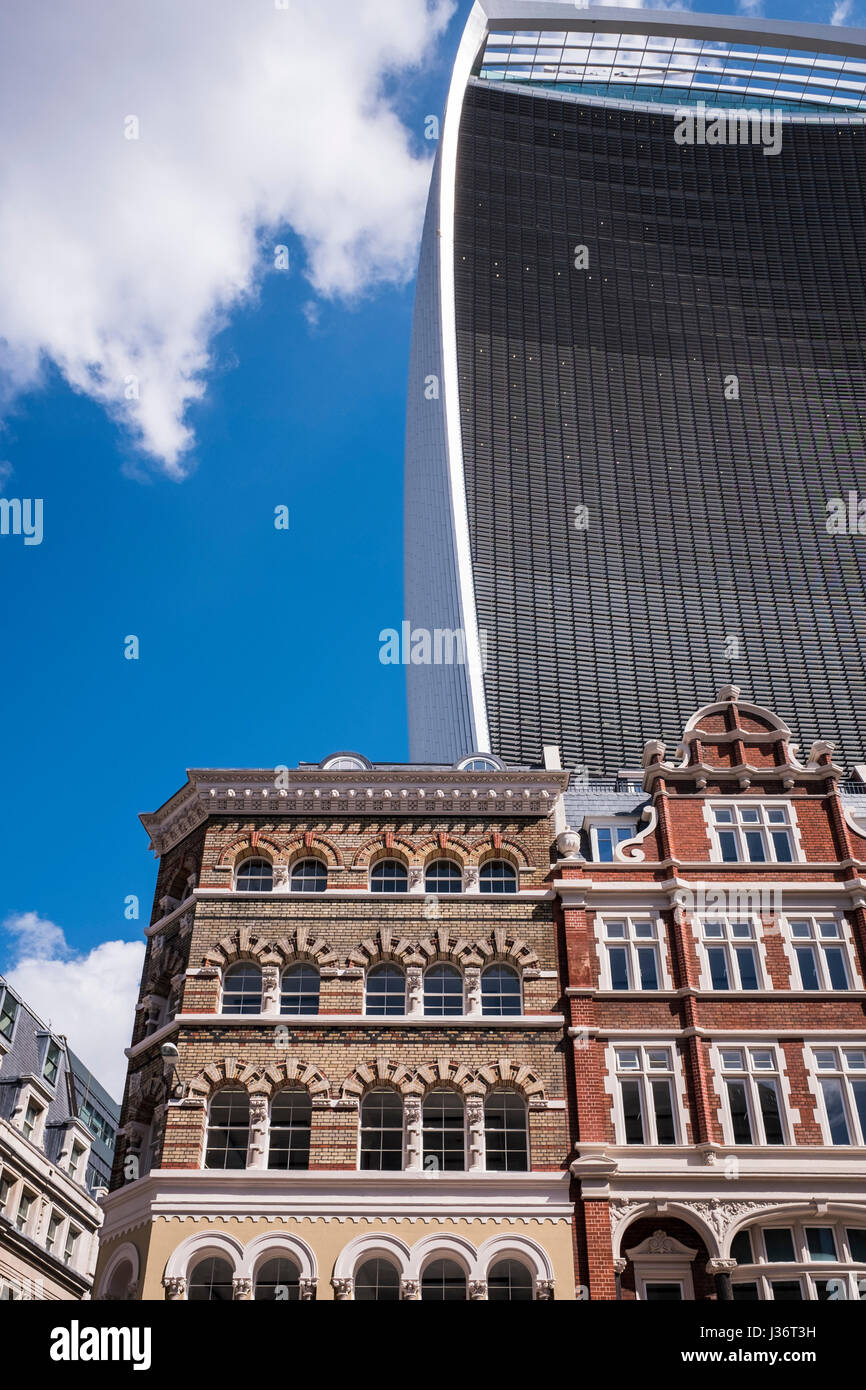 20 Fenchurch Street is a commercial skyscraper in London that takes its name from its address on Fenchurch Street, - Stock Image