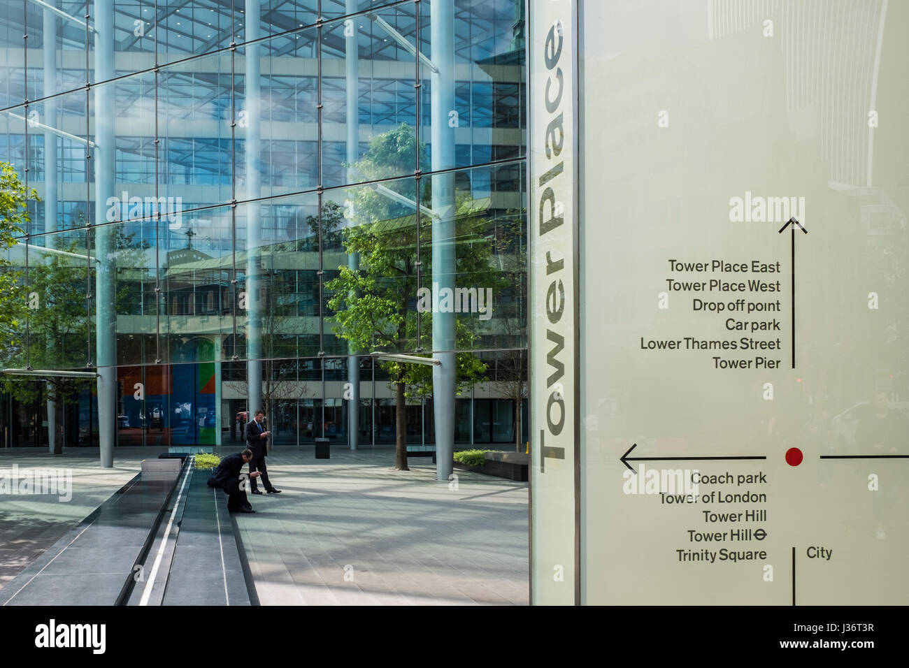 Tower Place office development close to the Tower of London, London, England, U.K. - Stock Image