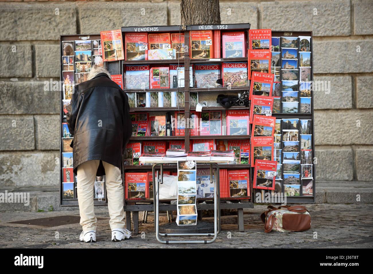 Souvenir book seller Toledo Spain - Stock Image