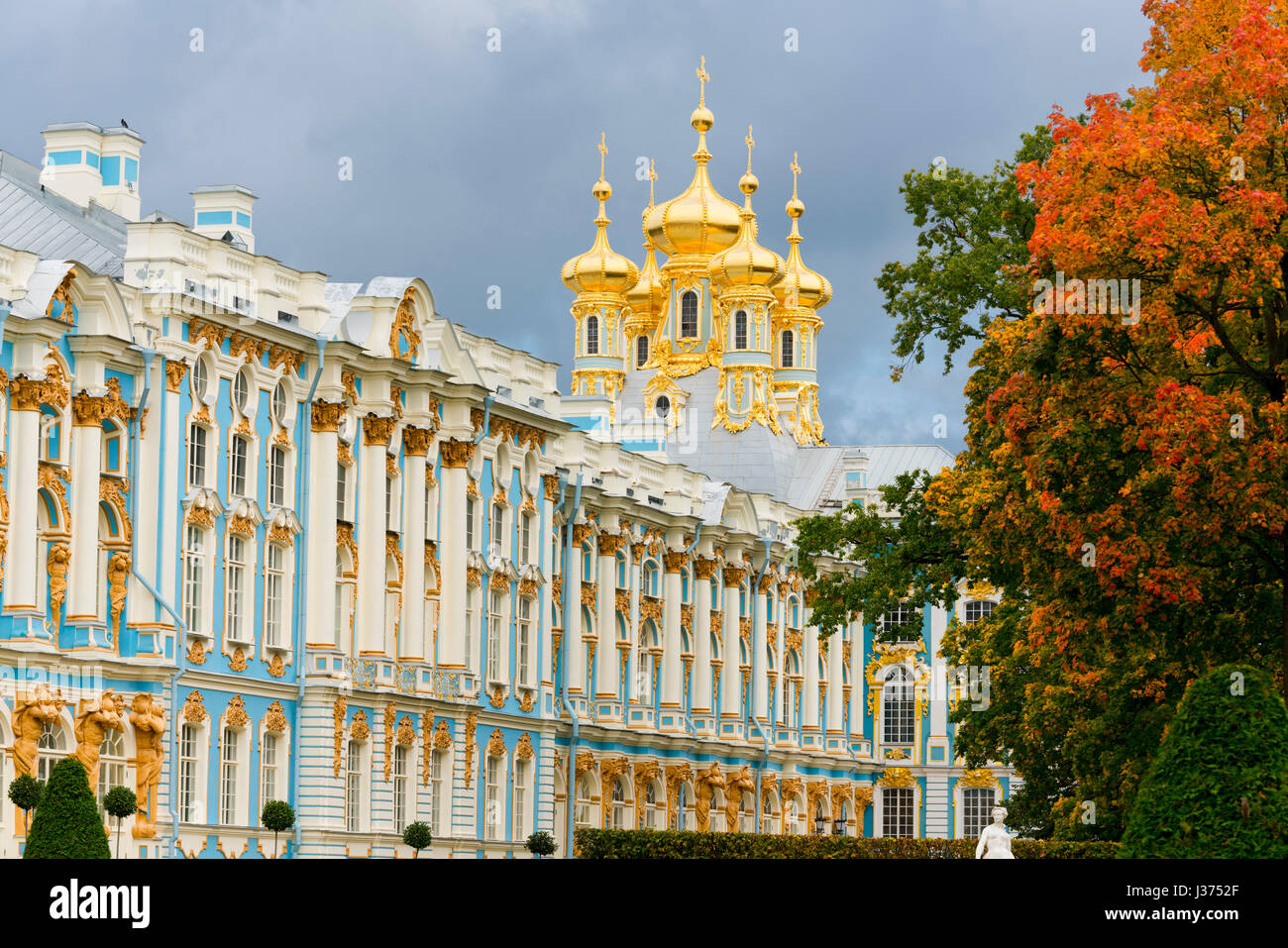The Catherine Palace, Pushkin, near Saint Petersburg, Russia - Stock Image