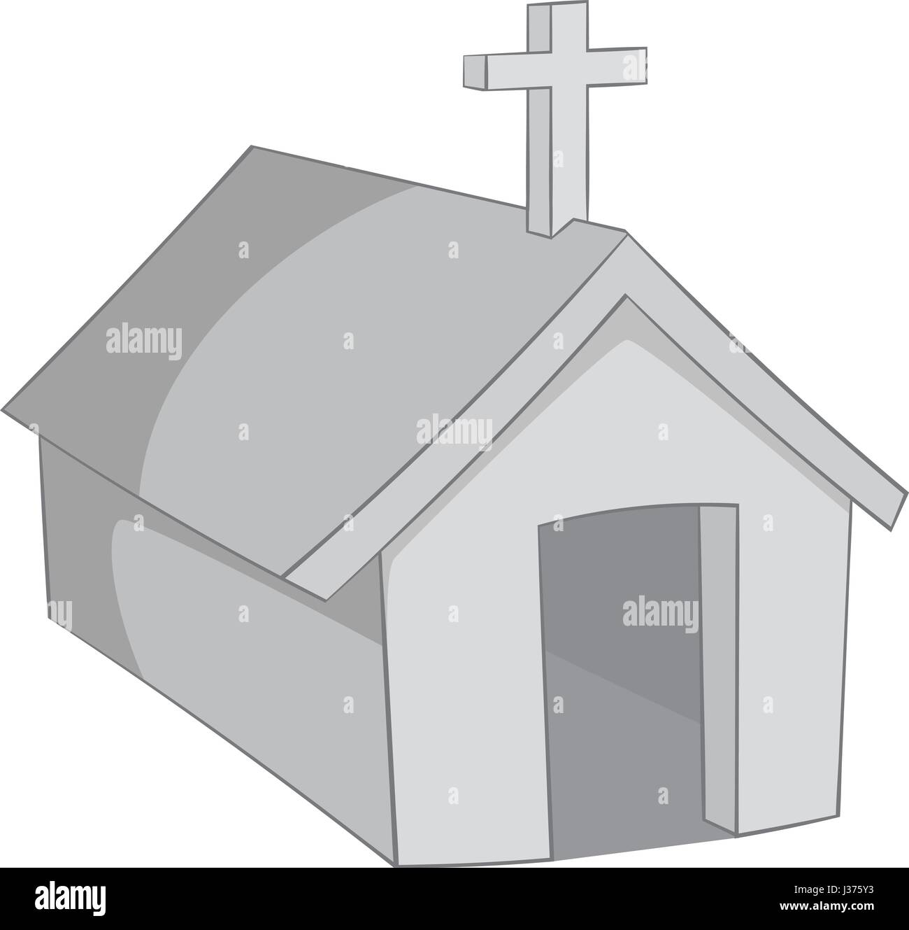 The church in village of Indians, Argentina icon - Stock Vector