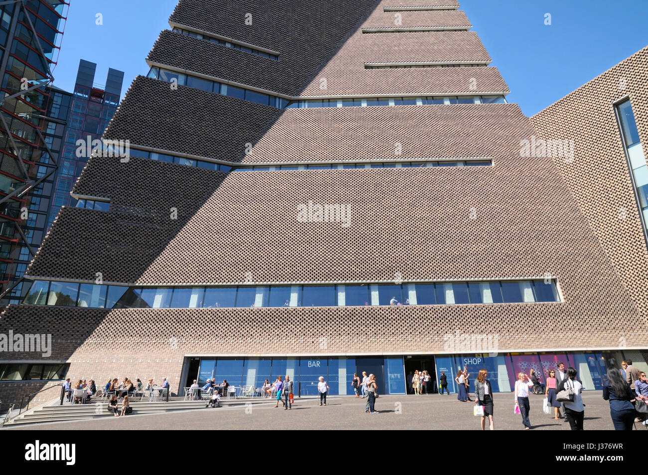 The Switch House extension, Tate Modern Art Gallery, London, UK - Stock Image