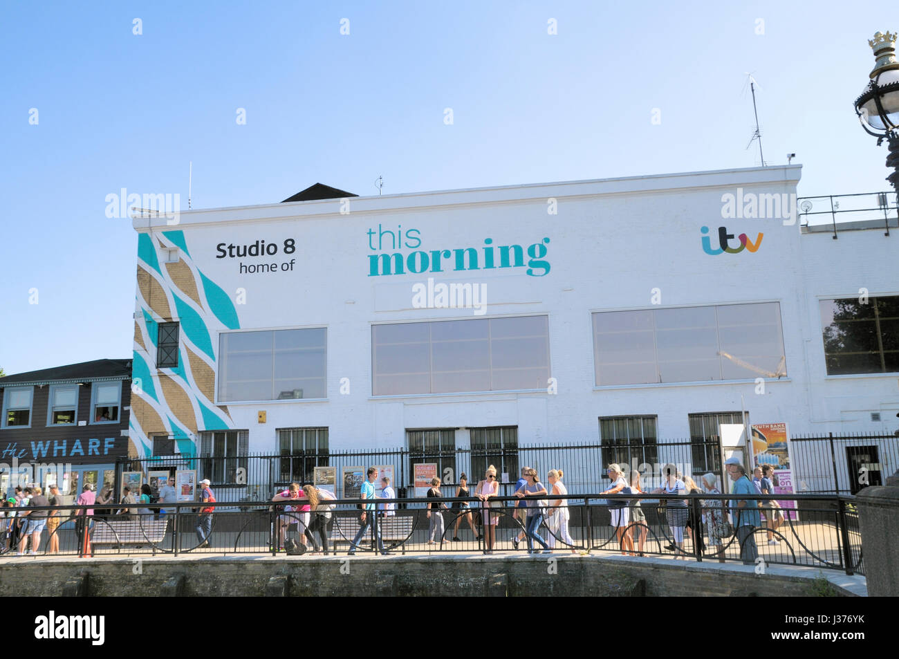 Studio 8, Home to ITV's This Morning television show, South Bank, London, UK - Stock Image