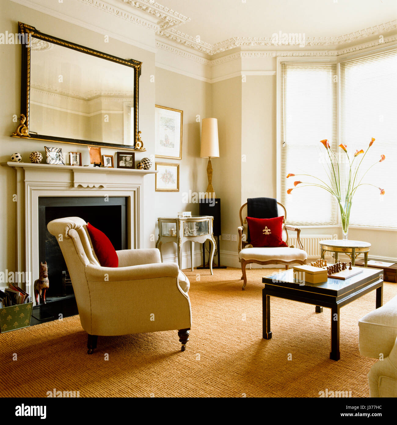 Classic style living room. - Stock Image