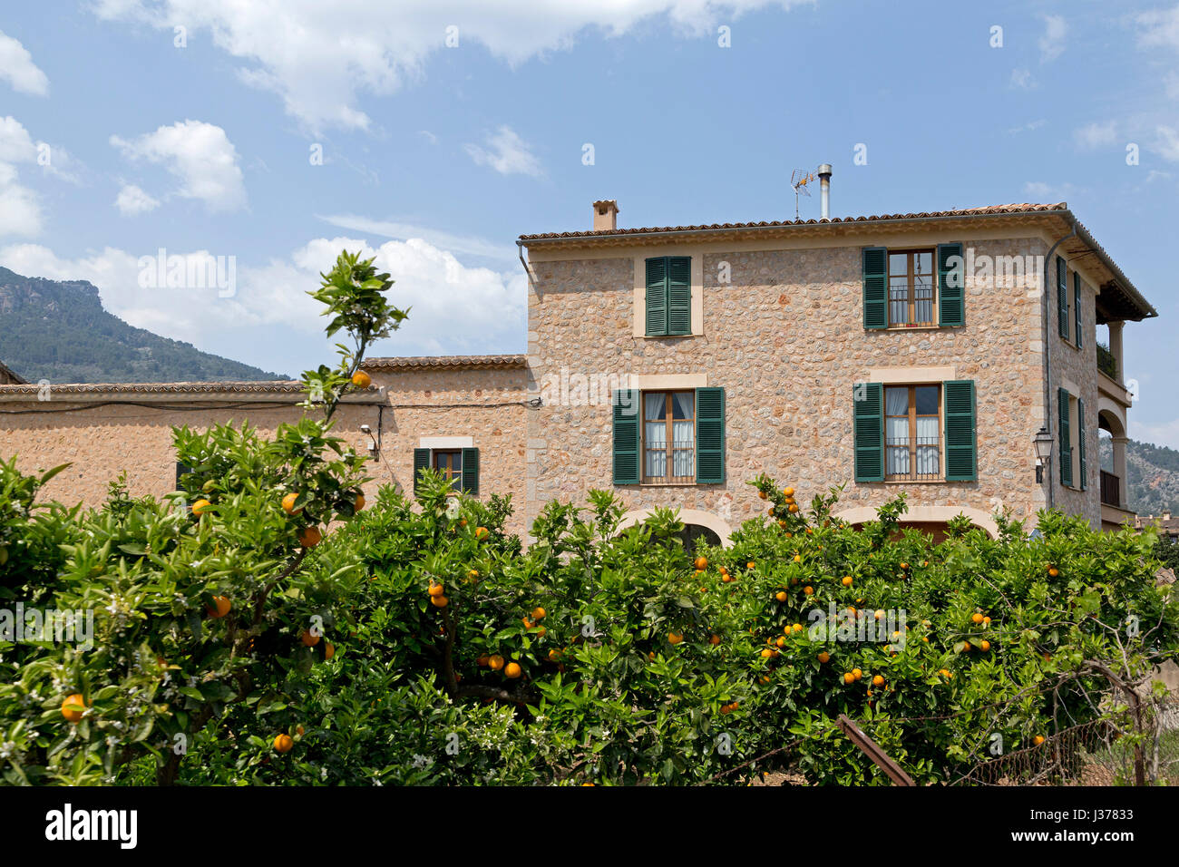 house in Sóller, Mallorca, Spain - Stock Image