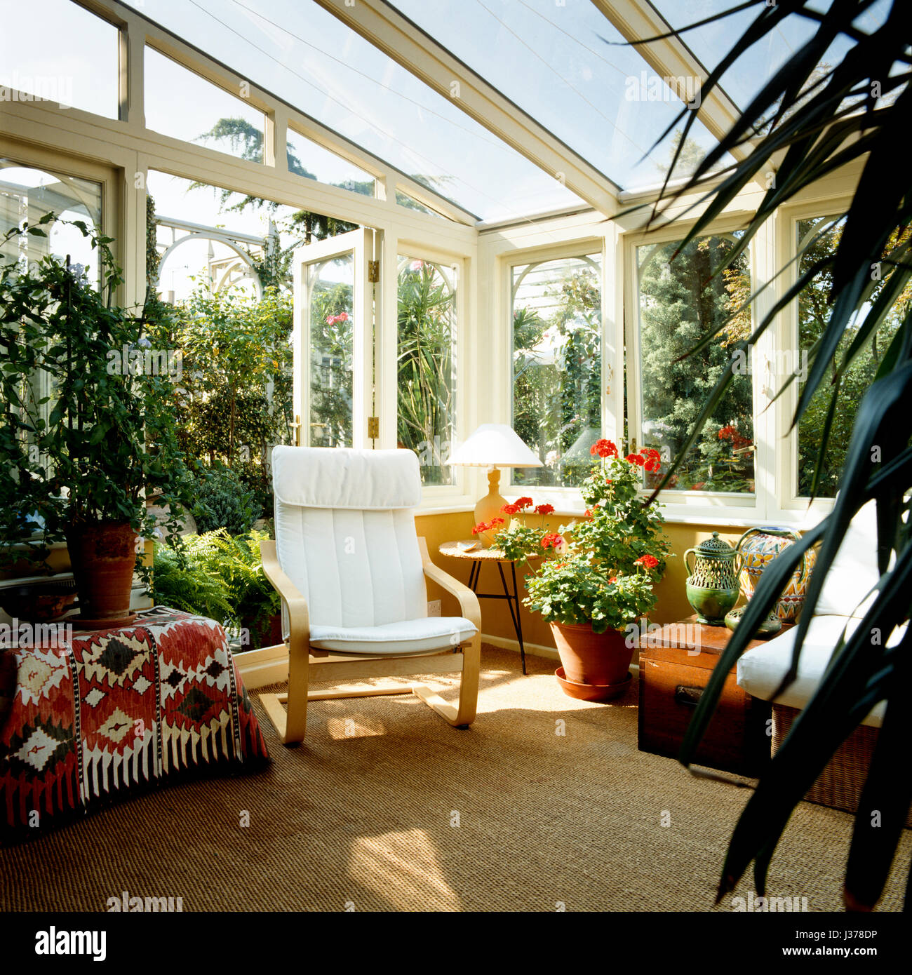 Conservatory with plants. - Stock Image