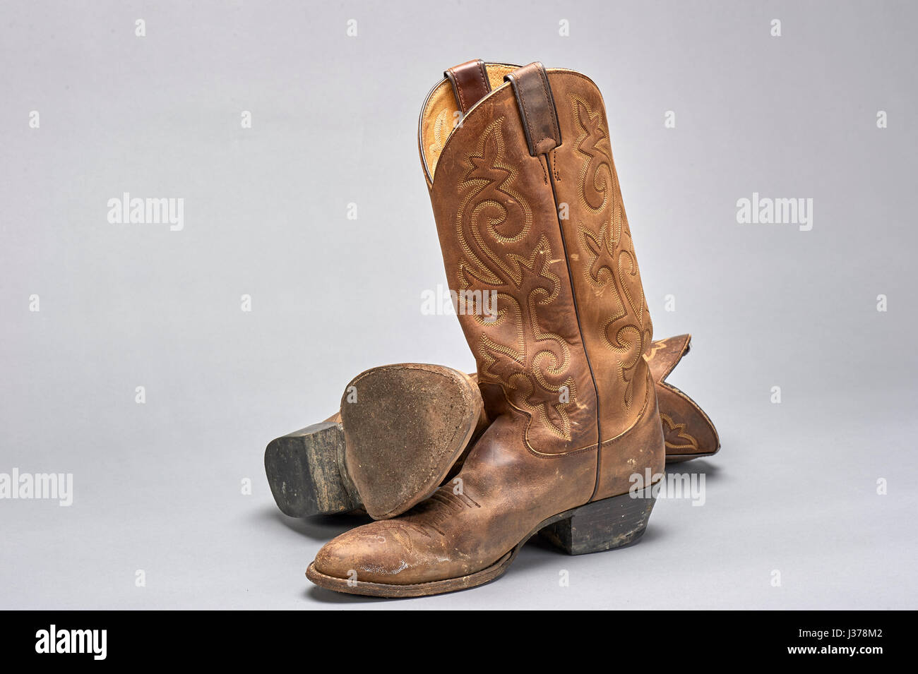 ac4a39334ca pair of traditional cowboy boots worn for western horsemanship Stock ...