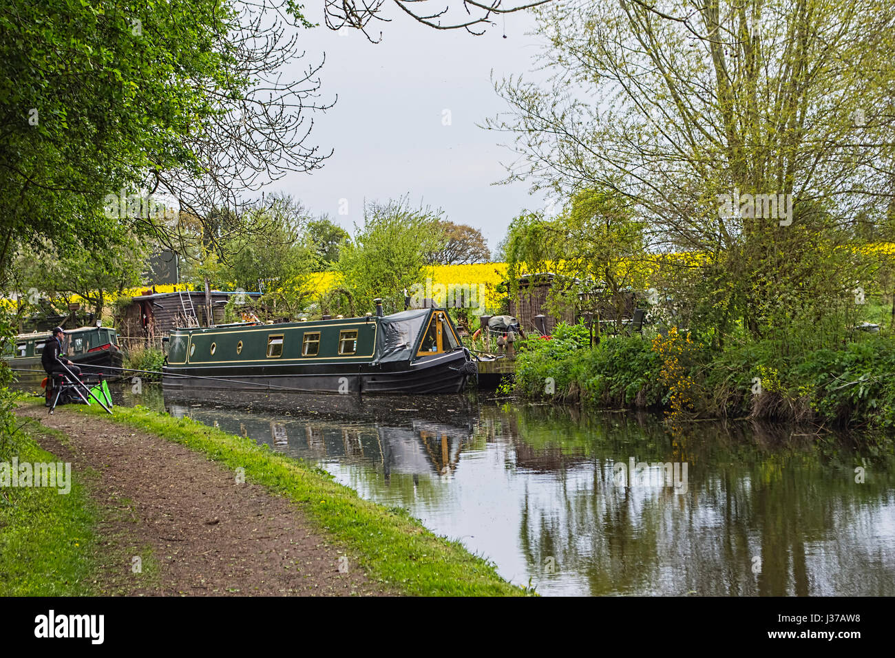 Staffordshire to Worcestershire canal. Stock Photo
