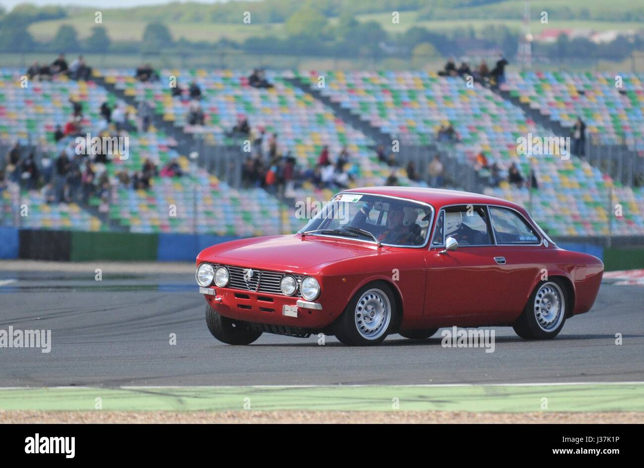 Alfa Rome Giulia Coupe Bertone On The Magny Cours Track During The