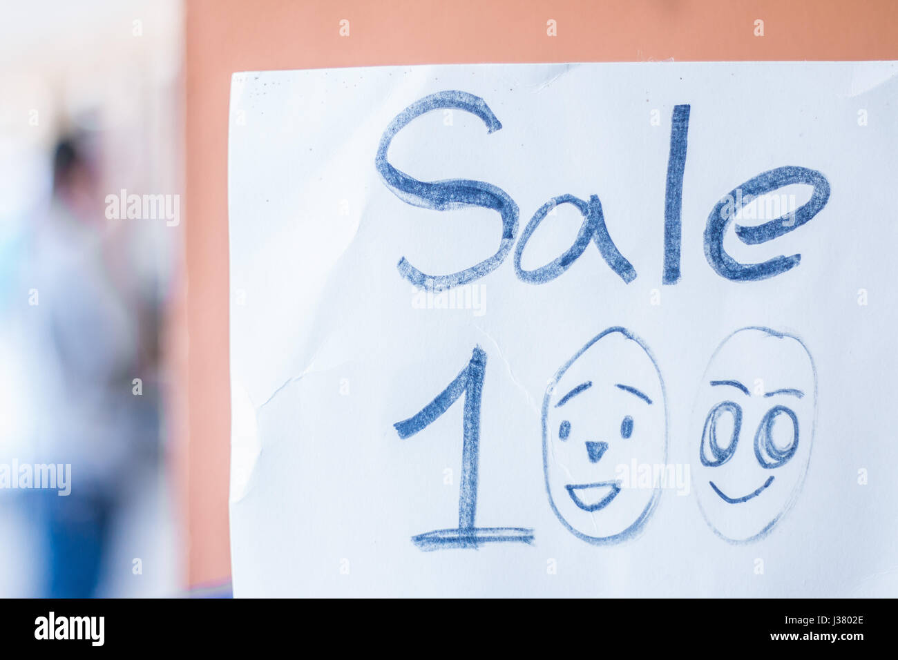 Sale,Price tag Hand written - Stock Image
