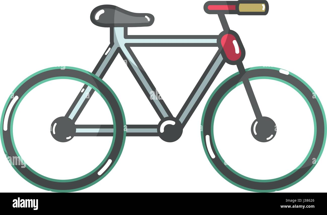 cute bicycle to do exercise - Stock Image