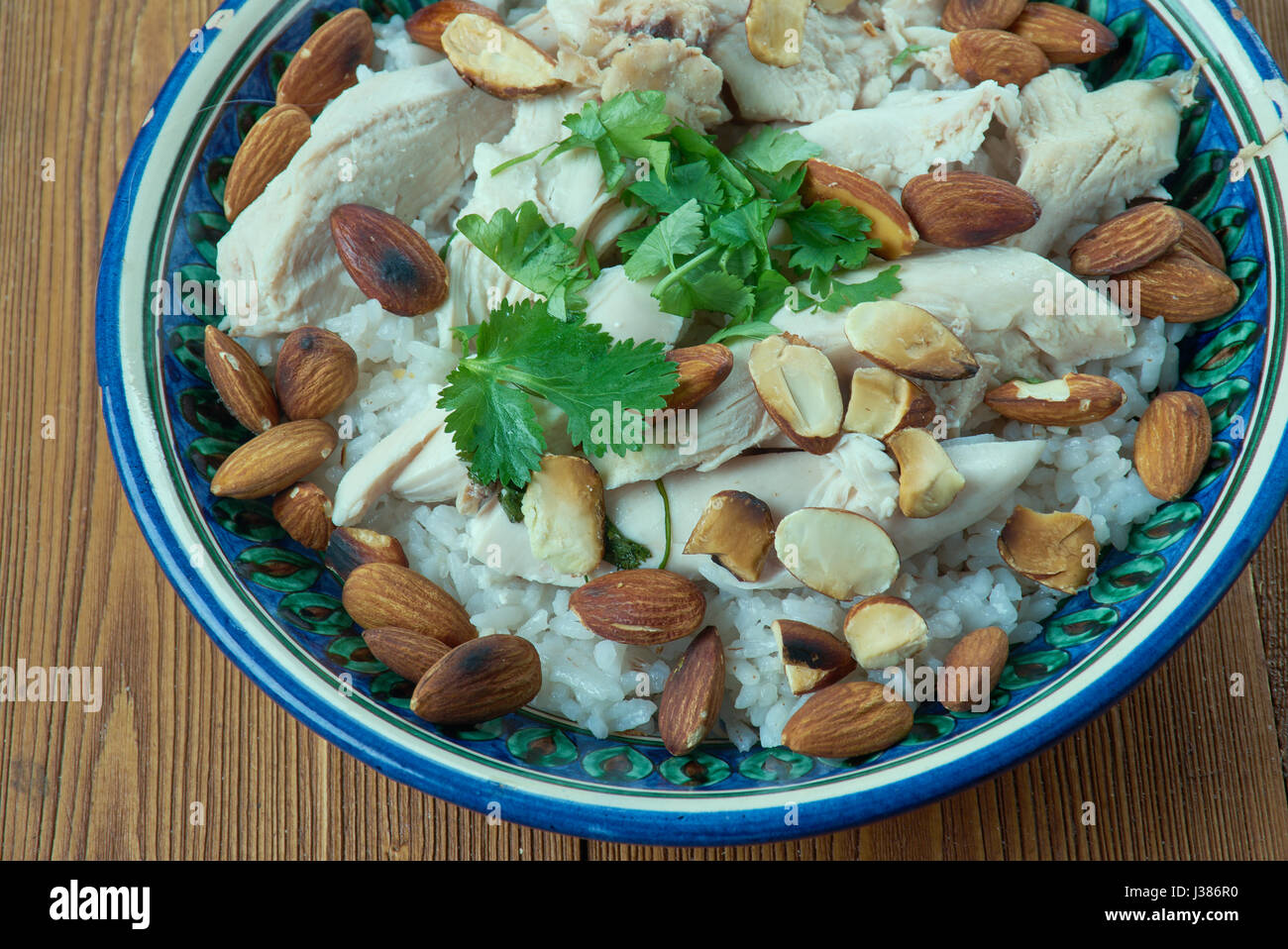 Lebanese Chicken and Rice - Fatet Dajaj - Stock Image