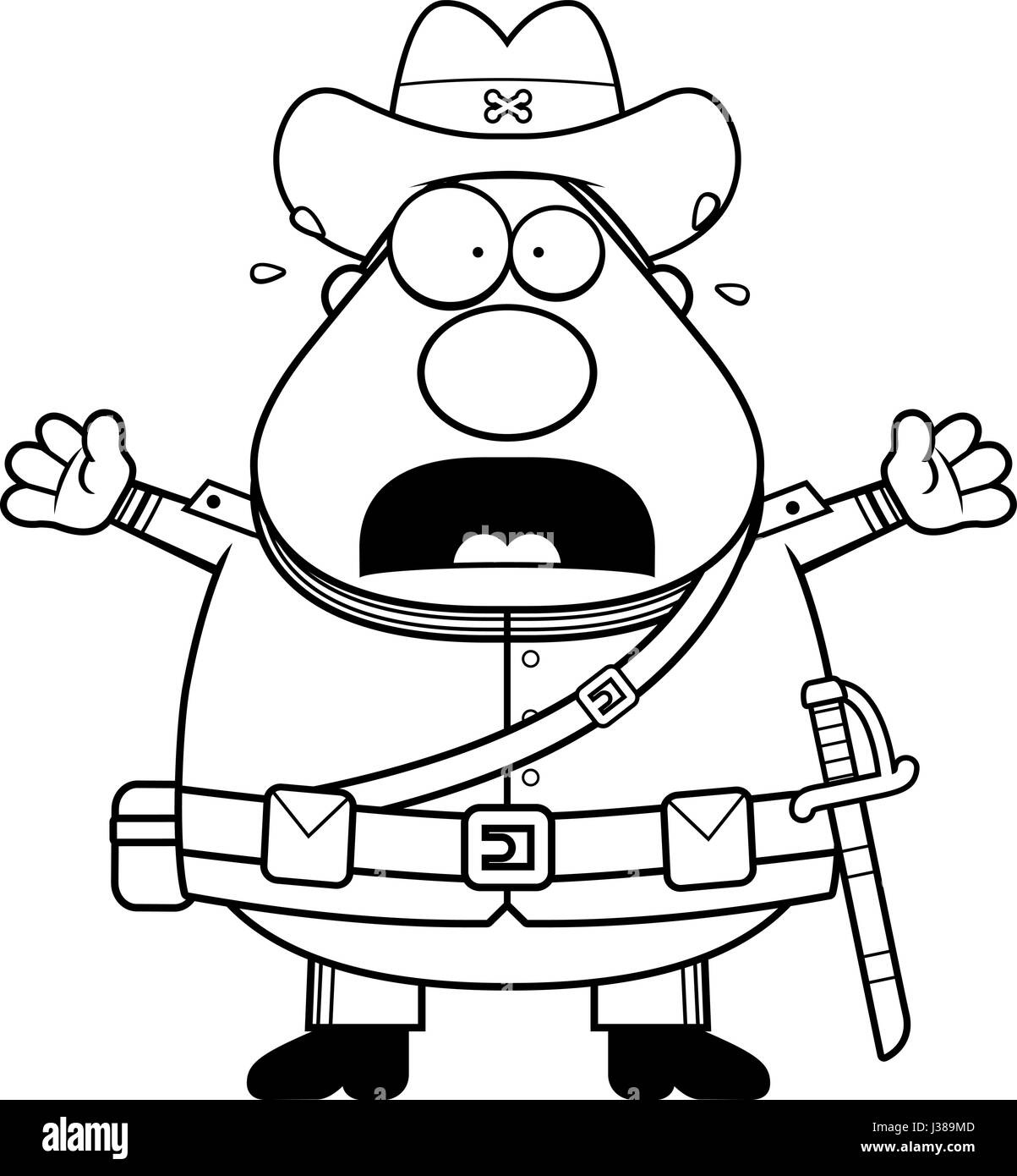 A Cartoon Illustration Of A Civil War Confederate Soldier Looking
