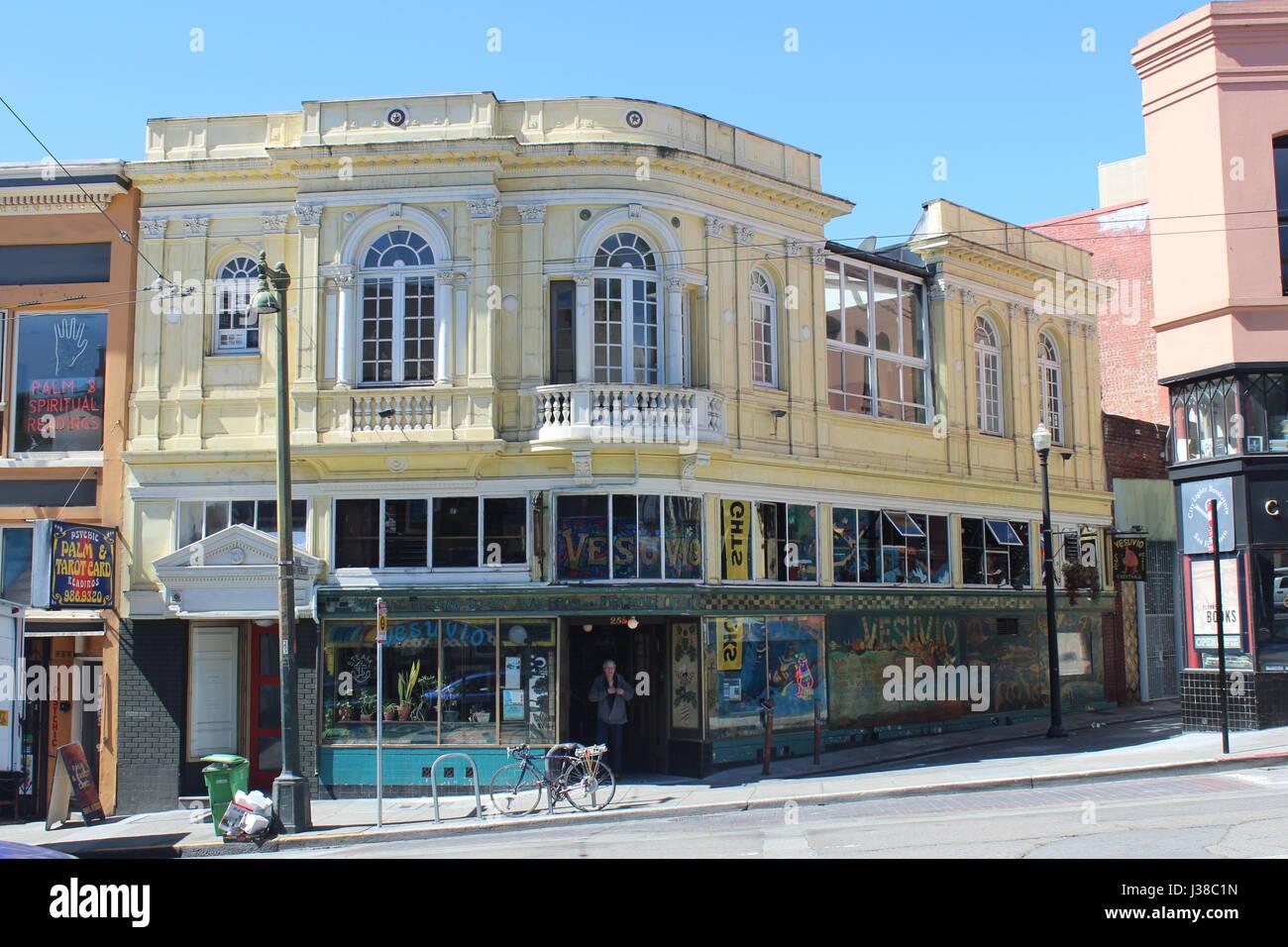 Versuvio Cafe, North Beach, San Francisco - Stock Image