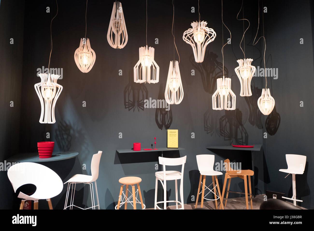 Milan April, 2017: Interior Design Furniture At The International Design  Week Salone Del Mobile, In Milan, Italy.